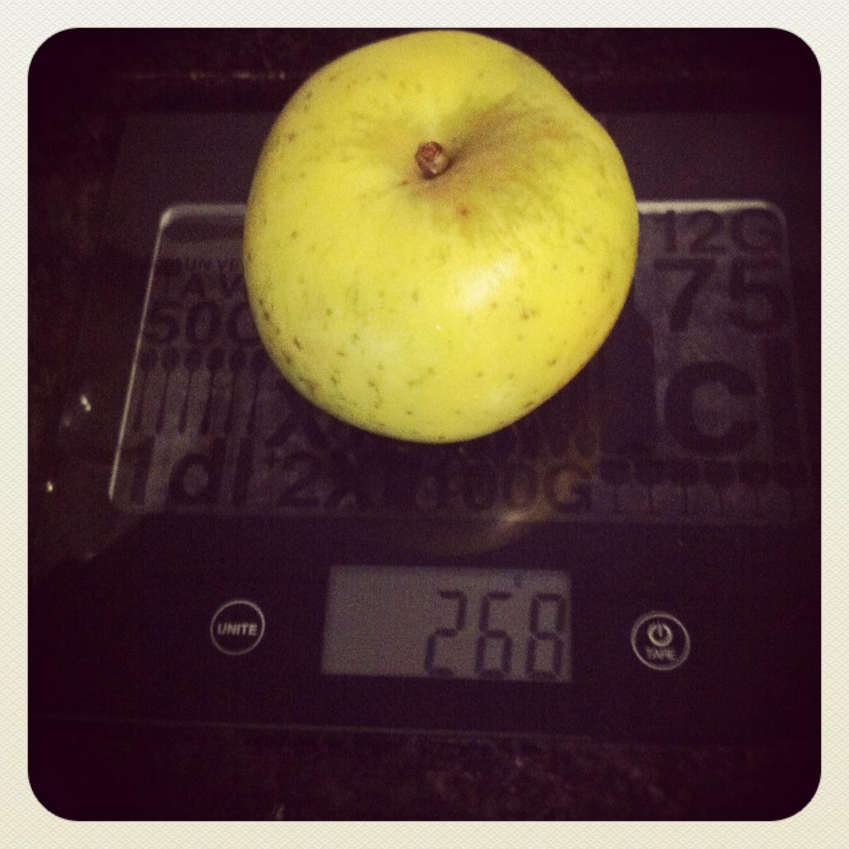 cuantas calorias tiene una manzana verde al horno