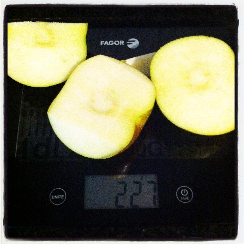 Manzana grande sin piel