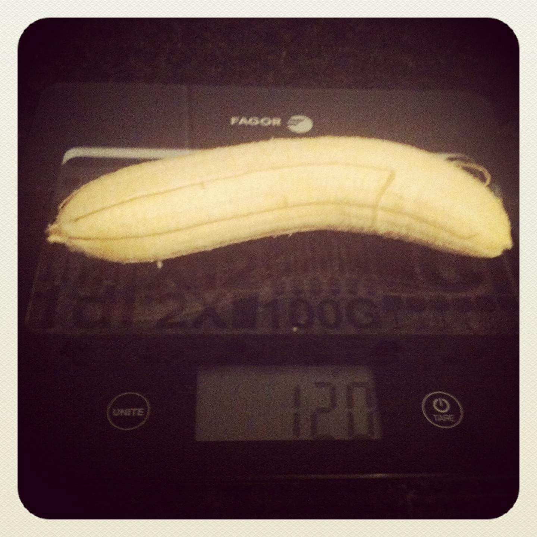 Plátano grande sin piel