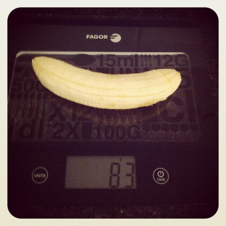 Plátano mediano sin piel