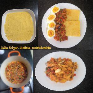 Receta de polenta con pisto y huevos