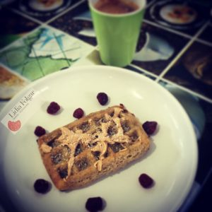 Gofre sin gluten, vegano y sin azúcares añadidos